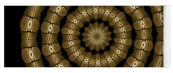 Magic Brass Rings Yoga Mat