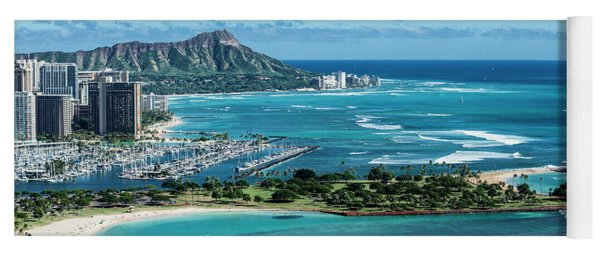 Magic Island To Diamond Head Yoga Mat