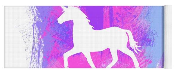 Magic Unicorn 1- Art By Linda Woods Yoga Mat