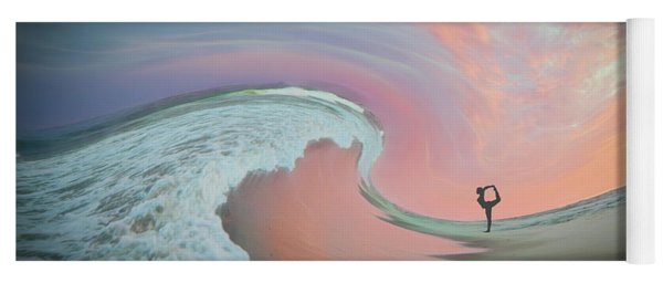 Yoga Mat featuring the photograph Magical Beach Sunset by Beth Sawickie