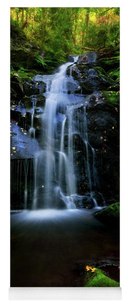 Magical Waterfall Above Spruce Falls In Tremont Smoky Mountains Tennessee  Yoga Mat