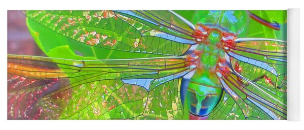 Magnificent Dragonfly - Square Macro Yoga Mat