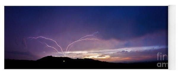 Magnificent Sunset Lightning Yoga Mat