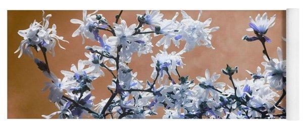 Magnolia Sky In Amber Yoga Mat