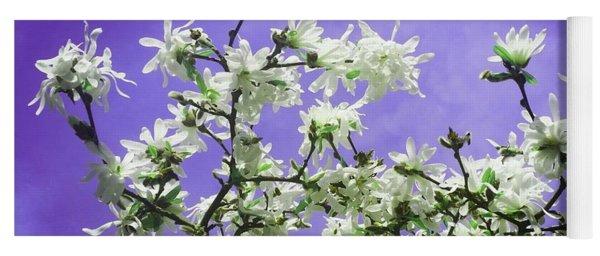 Magnolia Sky In Indigo Yoga Mat