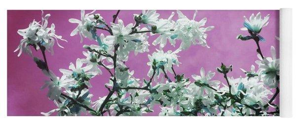 Magnolia Sky In Pink Yoga Mat