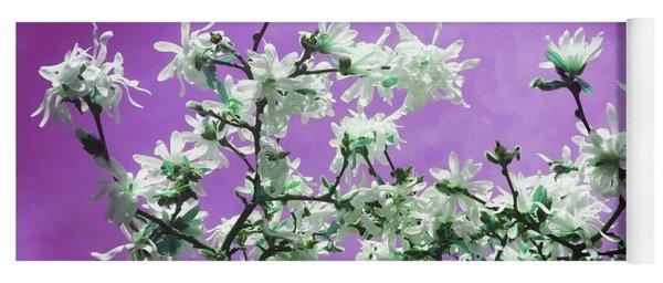 Magnolia Sky In Violet Yoga Mat