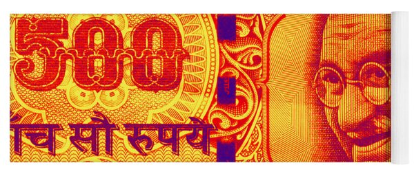 Mahatma Gandhi 500 Rupees Banknote Yoga Mat