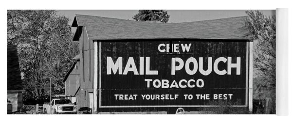 Mail Pouch Tobacco In Black And White Yoga Mat