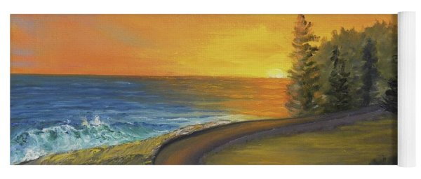 Maine Ocean Sunrise Yoga Mat