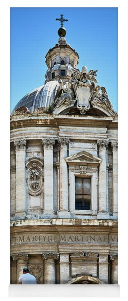 Yoga Mat featuring the photograph Majestic Architecture In The Roman Forum by Eduardo Jose Accorinti