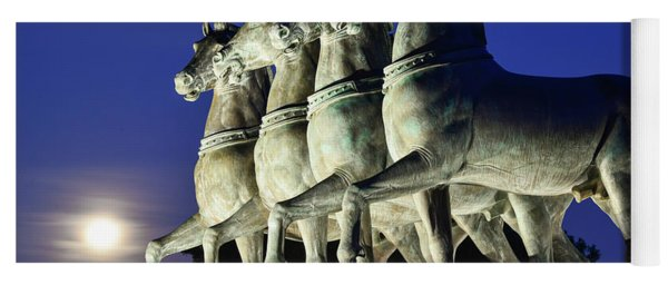 Majestic Horses In The Light Of The Moon Yoga Mat