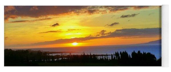 Majestic Maui Sunset Yoga Mat