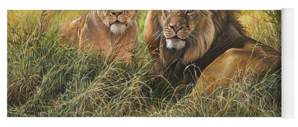 Male And Female Lion Yoga Mat