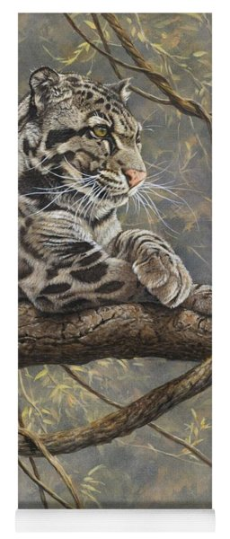 Male Clouded Leopard Yoga Mat