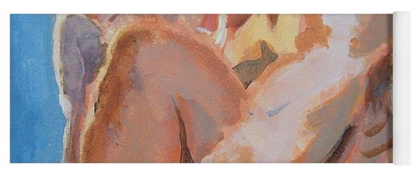Male Nude Painting Yoga Mat