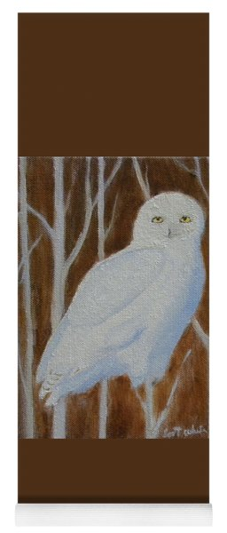 Male Snowy Owl Portrait Yoga Mat