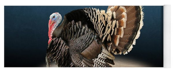 Male Turkey Strutting Yoga Mat