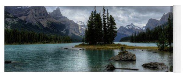 Maligne Lake Spirit Island Jasper National Park Alberta Canada Yoga Mat