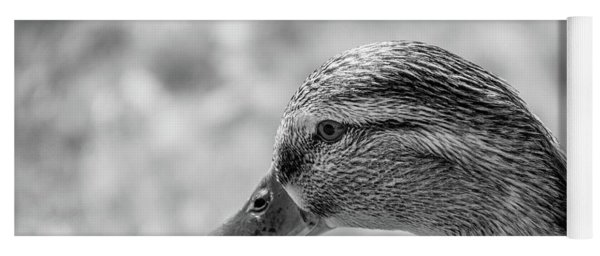 Mallard In Monochrome Yoga Mat