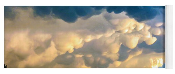 Mammatus Clouds At Sunset Yoga Mat