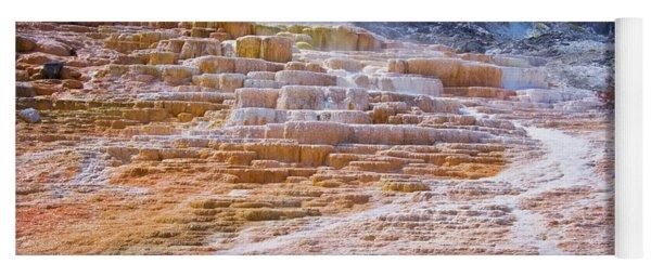 Mammoth Terraces Of Yellowstone Yoga Mat