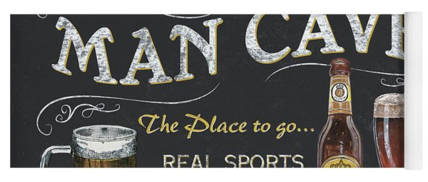 Man Cave Chalkboard Sign Yoga Mat