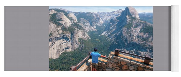 Yoga Mat featuring the photograph Man In Awe- by JD Mims