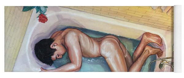 Man In Bathtub #3 Yoga Mat