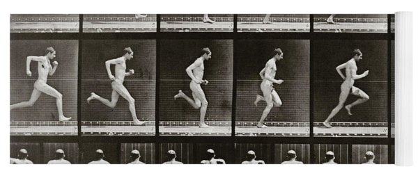 Man Running, Plate 62 From Animal Locomotion, 1887 Yoga Mat