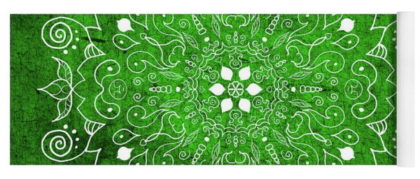 Mandala 1 Green Yoga Mat