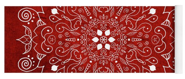 Mandala 1 Red Yoga Mat