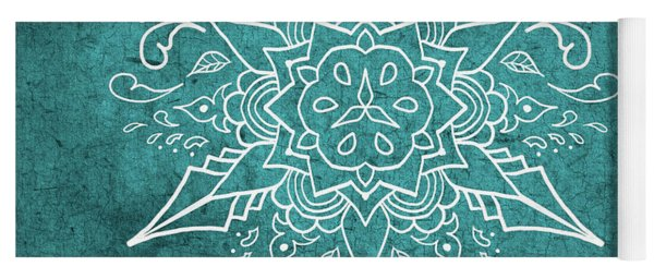 Mandala 3 Teal Yoga Mat