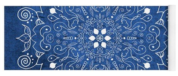 Denim Mandala  Yoga Mat