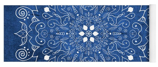 Denim Mandala  Yoga Mat