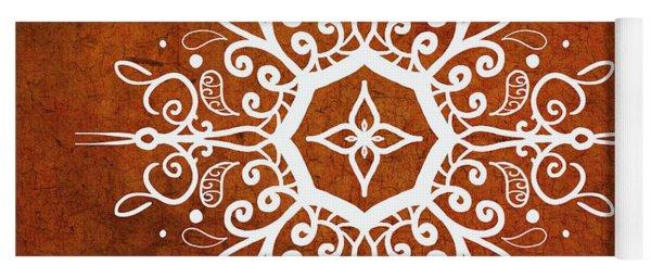 Mandala Art Earth Tone Yoga Mat