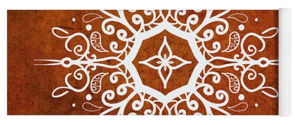 Mandala Art Earth Tone Yoga Mat