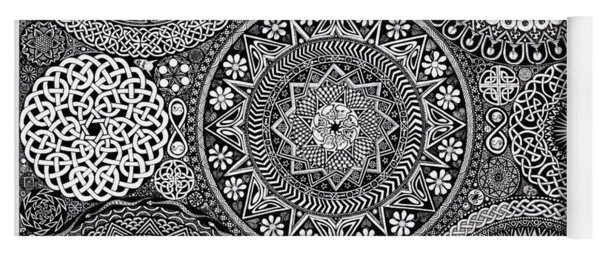 Mandala Bouquet Yoga Mat
