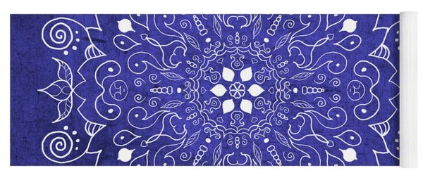 Mandala Midnight Blue Yoga Mat