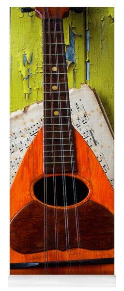 Mandolin And Old Sheet Music Yoga Mat