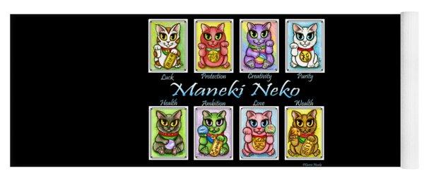 Maneki Neko Luck Cats Yoga Mat