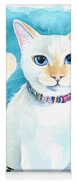 Mango - Flame Point Siamese Cat Painting Yoga Mat