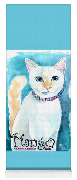 Mango - Flame Point Siamese Cat Painting Yoga Mat