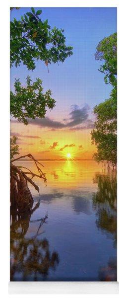 Mangrove Sunset From Jensen Beach Florida Yoga Mat