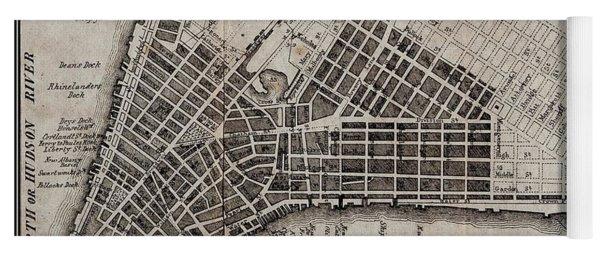 Manhattan 1804 Map Yoga Mat