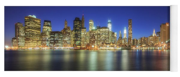 Manhattan Nite Lites Nyc Yoga Mat