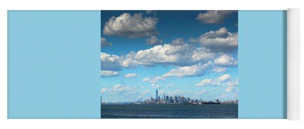Manhattan With Clouds Yoga Mat