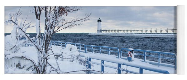 Manistee Pierhead Light Yoga Mat