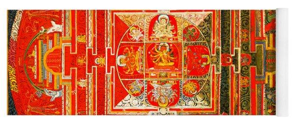 Manjuvara Thangka Mandala Yoga Mat