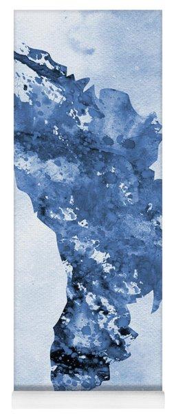 Map Of Moldova-blue Yoga Mat